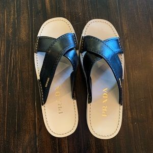Prada slides NWOT Leather